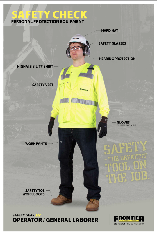 Safety Check PPE Poster #1 - Operator / General Laborer - Frontier ...